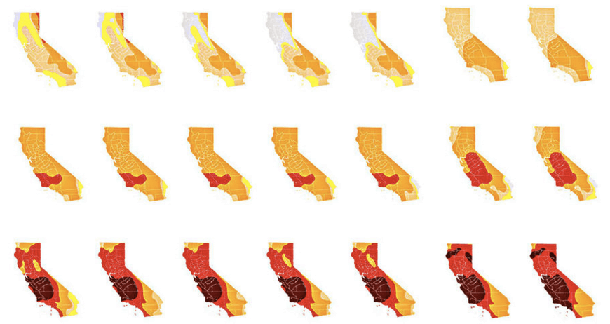 LA Times CA Drought Map