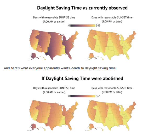 Daylight Savings Map