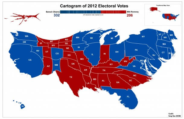Maps When To Use Them And Which Ones To Use - Isarithmic map us voting