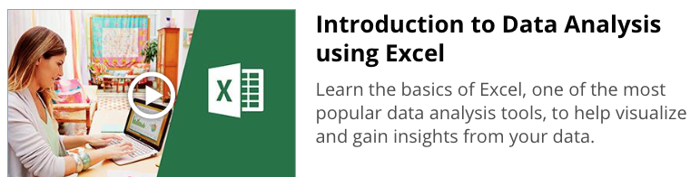 data analysis using excel course